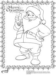 santa claus coloring pages team colors within santa claus coloring