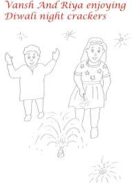 fire crackers printable coloring page for kids 3
