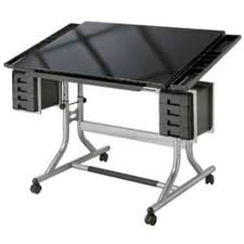 Light Drafting Table Craftmaster Ii Glass Top Deluxe Drawing Table Du All