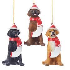 plush santa ornaments dogloverstore
