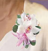 White Orchid Corsage Cymbidium Orchid Corsage Same Day Delivery Danvers Ma