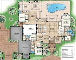 Luxury House Floor Plans Luxury Villa With Spanish Influences 66351we Florida