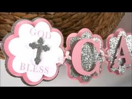 Centerpieces For Baptism Baptism Decorations Christening Party Youtube