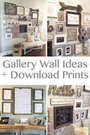 Family Wood Sign Home Decor Best 25 Rustic Gallery Wall Ideas On Pinterest Family Collage