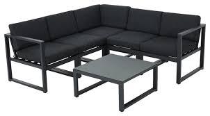 Contemporary Outdoor Sofa Nealie 6 Piece Outdoor Sofa Set With Cushions Contemporary