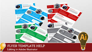 brochure templates adobe illustrator corporate hive flyer template editing with adobe illustrator