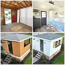 Backyard Guest Cottage by From Garden Shed To Modern Farmhouse Guest Cottage In 5 Weeks