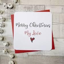 merry christmas love heart card parsy card