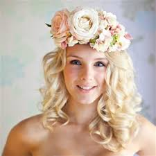 flower bands floral band with pink flowers midsummer wedding hair photos