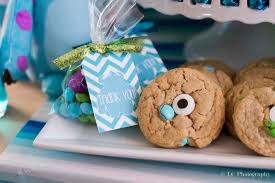 Cookie Monster Baby Shower Decorations Monster U0027s Inc Baby Shower Baby Shower Party Ideas Photo 4 Of 10