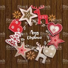 christmas motive small scandinavian styled decorations lying on