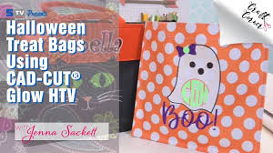 halloween treat bags using cad cut glow htv craft corner youtube