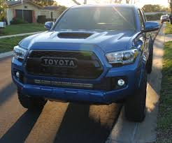 tacoma grill light bar install double row led light bar on 2016 up toyota tacoma