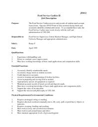 Resume For Restaurant Resume For Restaurant Cashier Free Resume Example And Writing