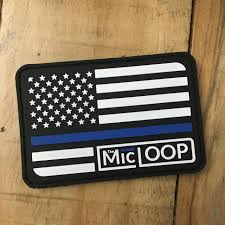 State Flag Velcro Patches Thin Blue Line Logo Flag Pvc Patch Velcro Backing The Mic Loop