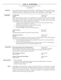 Sample Resume Objectives For Mechanics by Maintenance Sample Resume Splixioo