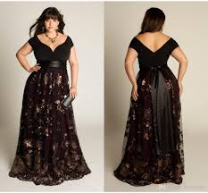 Online Plus Size Clothing Boutiques 2017 Plus Size Luxury Couture Prom Gown Capped Short Sleeve Floor