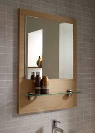 Bathroom Mirror With Shelves Idea Wooden Bathroom Mirror Astonishing Ideas Furniture For