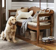 entryway benches with backs doggie toy basket pottery barn