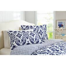 Bed Set Better Homes And Gardens Indigo Scrollwork 5 Piece Bedding