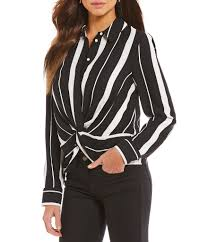 black and white blouse gianni bini s casual dressy tops blouses dillards