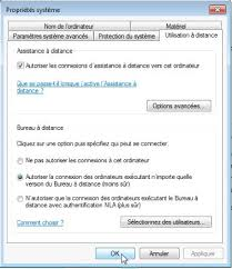 autoriser bureau a distance connexion bureau à distance pour mac réglages du pc sous windows 7