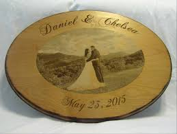 engraved wedding guest book wedding guest book alternative custom wood sign with engraved photo