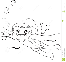 coloring swimming coloring page