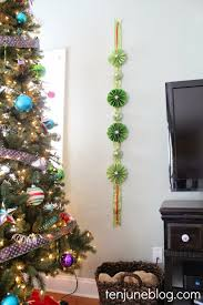 ten june diy holiday pinwheel garland craft