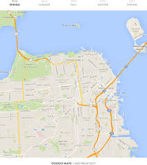 San Francisco Bike Map by A Year Of Google Maps U0026 Apple Maps U2014 Justin O U0027beirne