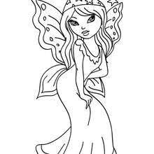 fairy in the wood coloring pages hellokids com