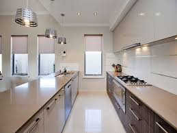 modern galley kitchen ideas modern galley kitchen design using polished concrete bitdigest