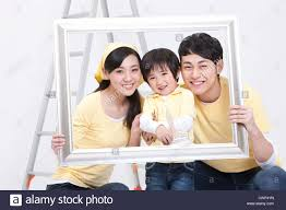 happy family doing diy home improvement stock photo royalty free