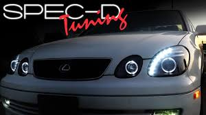 lexus es300 xenon lights specdtuning installation video 1998 2005 lexus gs300 gs400