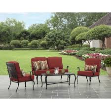 10 Piece Patio Furniture Set - better homes and gardens dawn hill 4 piece aluminum conversation