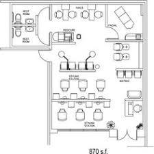 beauty salon floor plans salon floor plan design layout 696 square feet interiors