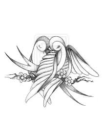 coloring pages decorative drawing of lovebirds drawn lovebird