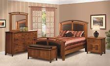 solid oak bedroom set ebay
