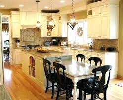 Kitchen Island With Attached Table Kitchen Island With Attached Table Dmujeres