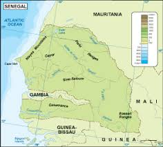 africa map senegal senegal maps vector wall maps made in barcelona from netmaps