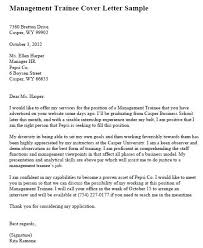 trainee cover letter student trainee cover letter example