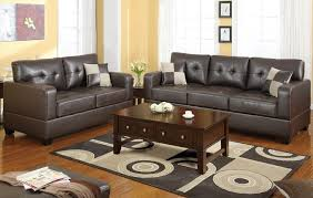 dark brown bonded leather sofa loveseat f7341 lowest price sofa