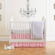 pink and taupe damask crib bedding carousel nursery d c3 a3