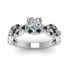 heart shaped diamond engagement rings jeulia heart cut created white sapphire with black diamond