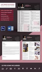 software developer resume template software developer resume cover letter portfolio template free