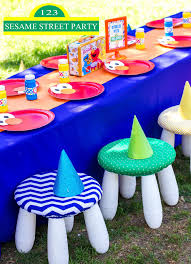 sesame street pool party street party
