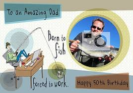 fishing birthday cards funky pigeon