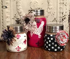 painted mason jars mason jar decor kitchen canisters kitchen