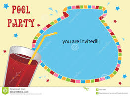 You Are Invited Card Pool Party Invitation Card Stock Photo Image 14807800