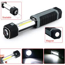battery powered work lights 2 in 1 3w cob led flashlight battery power cing work light